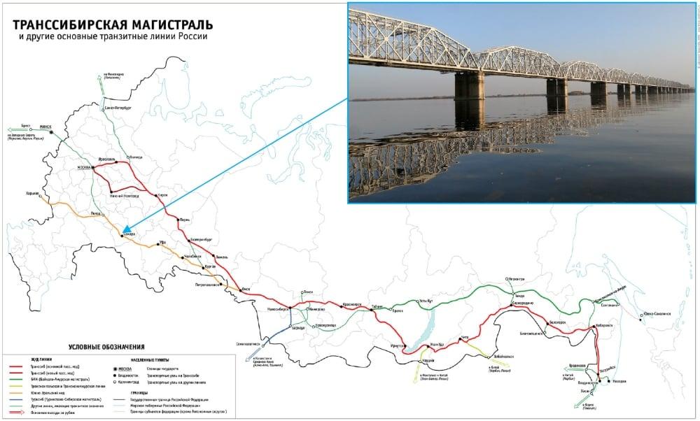 西伯利亞大鐵路地圖
