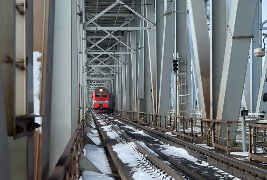 Bridge Inspection on Bustling Section of the Trans-Siberian Railroad Made Possible with Elios 2