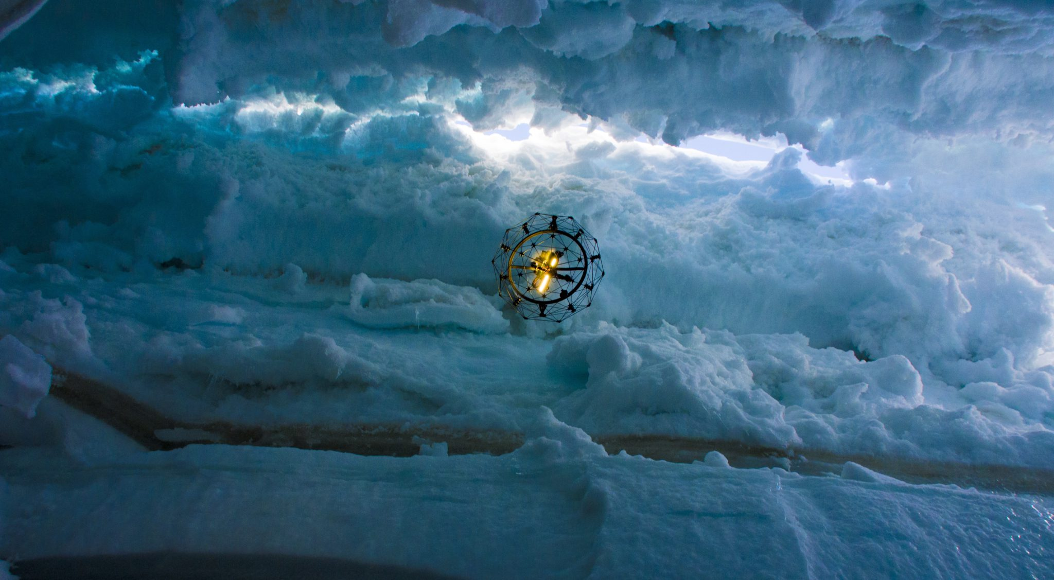 Flyability redefines UAV operation boundaries and explores the heart of a glacier