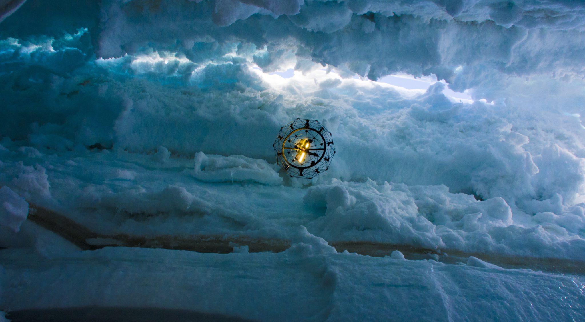 Flyability redefines UAV operation boundaries and explores the heart of a glacier